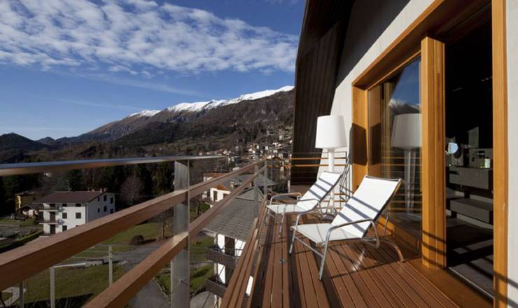 Emotional spa suite balcony hotel milano alpen resort meeting & spa**** castione della presolana
