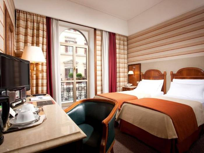 Superior twin room hotel mascagni**** rome