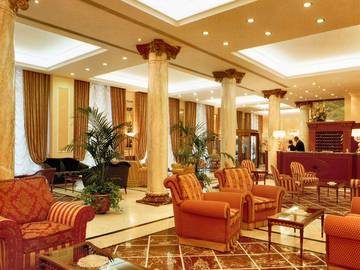 Reception andreola central hotel**** milan